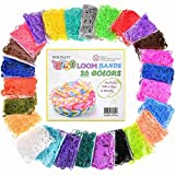 Inscraft Loom Rubber Bands, 12750pc Rainbow Rubber Band Refill Kit in 26 Colors with 500 Clips 6 Hooks, Loomy Bands