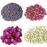 TooGet Natural Flores secas y Hierbas Incluyen Lavanda, Rosa, Gomphrena globosa,...