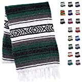 Handcrafted Mexican Blankets, Artisanal Handwoven Serape Blanket, Authentic Falsa Blanket, Great As Beach Blanket, Camping Blanket, Picnic Blanket, Outdoor Blanket, Boho Throw Blankets, Bottle