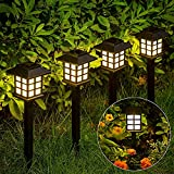 GIGALUMI Solar Pathway Lights Outdoor, 12 Pack Solar Lights Outdoor,Solar Garden Lights,Solar Walkway Lights for Garden, Landscape, Path, Yard, Patio, Driveway