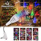 Projecteur de Noël, LED Lampe Projecteur de Noel avec 12 Diapositive,...