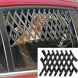 5starsuperdeals Dog Window Guard Gate Vent - Expandable Car Window Ventilation Safe Guard Grill (Regular, White)
