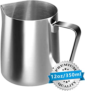 Stainless Steel Milk Frothing Pitcher Cappuccino Pitcher Pouring Jug Espresso Cup Creamer..