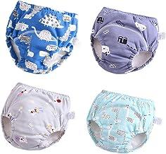 U0U Baby Girls'4 Pack Cotton Training Pants Toddler Potty Training Underwear for..