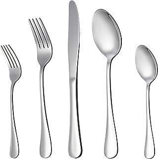 LIANYU 20-Piece Silverware Flatware Cutlery Set, Stainless Steel Utensils Service for 4,..