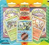 Pokémon : Pack amélioré de 2 boosters avec 3 cartes promo et une pièce -...