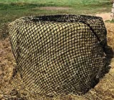 Tech Equestrian Upgraded 4-5mm Thick Round Bale Slow Feed Hay Net 5x4 (Hole_Size_2.5' inches)