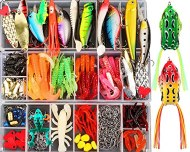 375pcs Lifelike Trout Carp Pike Perch Bass Fishing Lure Kit,2 Frog Freshwater Plopping Minnow with Floating Rotating Tail,Artificial baits,Saltwater Fishing BaitTackle Box with Tackle Gifts for friend