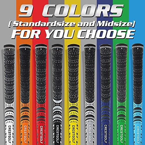 Product Image 6: Multi -Compound Golf Grips,Mid Size All-Weather Control Thread Technology Rubber Combine with Carbon Yard, Anti-Slip-Set of 13(Blue,midsize)