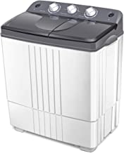 COSTWAY Washing Machine, Twin Tub 20Lbs Capacity, Washer(12Lbs) and Spinner(8Lbs),..