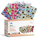 WeCare Disposable Face Masks For Kids, 50 Assorted Summer Print Masks, Individually Wrapped