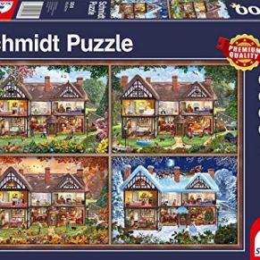 Schmidt Spiele- Puzle de 2000 Piezas, Color carbón (58345)