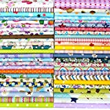 Misscrafts 50pcs 8' x 8' (20cm x 20cm) Top Cotton Craft Fabric Bundle...
