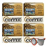 Fresh Roasted Coffee LLC, Swiss Water Decaf Organic Black Knight Coffee Pods, Dark Roast, Fair Trade, USDA Organic, Capsules Compatible with 1.0 & 2.0 Single-Serve Brewers, 72 Count