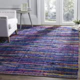Safavieh Rag Rug Collection RAR240B Blue and Multi Area Rug, 4' x 6'