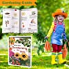 INNOCHEER Kids Gardening Tools, 9 Piece Garden Tool Set for Kids with Gardening Guide Book, Watering Can, Gloves, Shovel, Rake, Trowel, Kids Smock and Hat, All in One Gardening Tote #5