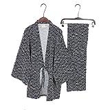 Fancy Pumpkin Costume de Pyjama Kimono pour Homme de Style Japonais-Black Wave Taille M