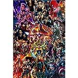 Jigsaw Puzzle Adult Children's Jigsaw Puzzle Marvel Avengers Anime 300/500/1000/1500 Pieces (Color : E, Size : 1000 Tablets)