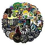 FENGLING Legend of Zelda Anime Icon Animal Cute Calcomanías Guitarra Nevera Bicicleta Pegatinas Regalos para niños a Laptop Maleta 50 Uds
