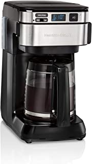 Hamilton Beach Programmable Coffee Maker, 12 Cups, Front Access Easy Fill, Pause &..