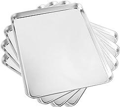 Baking Sheet Set of 4, Yododo Cookie Sheets Metal Stainless Steel Tray Baking Pans,..