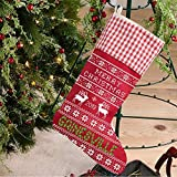 Christmas Tree Decorations 2019 Gainesville Christmas Stockings for Family Holiday Party Decor Gifts Rustic City State US Stockings Hanging Ornaments Candy Gift Bags for Xmas 18'