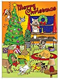Fur Babies Products Dog Advent Calendar- 24 Individual Opening Windows-Healthy Treats-Count Down to Christmas -Advent Calendar-Dog Treats-Treats