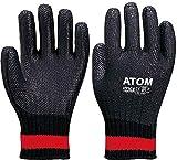 ATOM 片面コート手袋 ゴム張り クロベエ フリーサイズ 122-GX