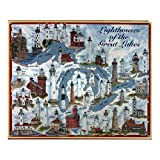 MAJESTY OF THE LIGHTHOUSES: A tribute to the Lighthouses of the Great Lakes which have guided sailors through the turbulent waters for hundreds of years, this puzzle features some of the most notable lighthouses. Perfect for creating that lakeside at...