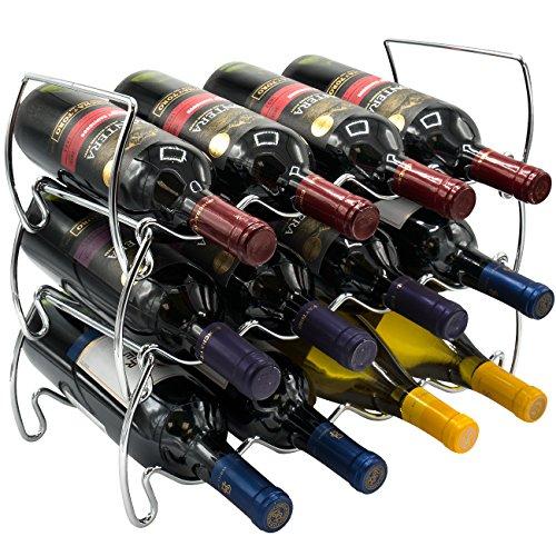 Sorbus 3-Tier Stackable Wine Rack - Classic Style Wine Racks for...