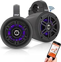 Pyle PLMRLEWB47BB Bluetooth 300W Black Marine Wakeboard Tower Speakers