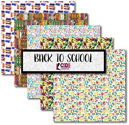 CSDS Vinyl Back to School Bundle Pack, School Printed Vinyl, Alphabet...