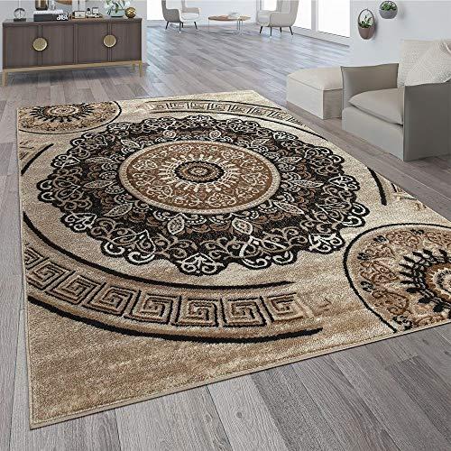 Tappeto di Design Motivo Mandala Marrone, Dimensione:240x340 cm