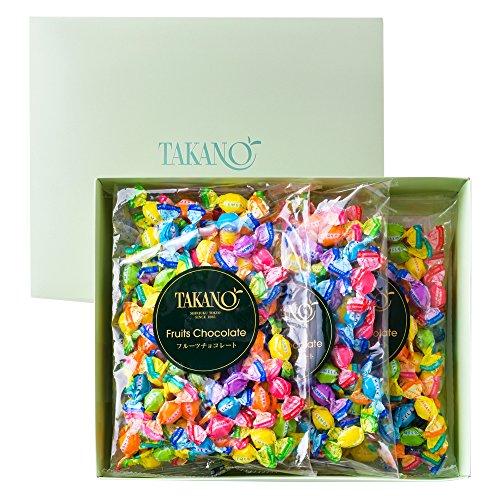 新宿高野 フルーツチョコレート平袋3入EA (ギフト セット) 贈り物 バレンタインデー/ホワイトデー 7種類のフルーツ 3袋入り
