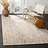 Safavieh Abstract Collection ABT468D Contemporary Handmade Gold and Blue Premium Wool Area Rug (4' x 6')