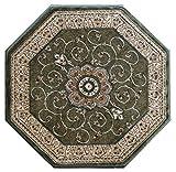 Traditional Octagon Area Rug Design 404 Green (4 Feet X 4 Feet) Octagon