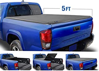 Tyger Auto T3 Soft Tri-Fold Truck Bed Tonneau Cover Compatible with 2019-2021 Toyota..