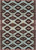 BalajeesUSA Outdoor Patio Rugs clearance 9'x12' (274 cm x 365 cm) Red, Black, Sky Blue and Ivory 20300