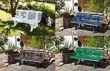 gartenmoebel-einkauf Gartenbank 3-sitzer Kunststoff braun - 4