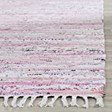 Safavieh Rag Rug Collection RAR125E Hand Woven Light Pink and Multi Cotton Area Rug (2'3' x 3'9')