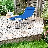 Park Alley PA-5210 Sonnenliege mit Kissen Gartenliege klappbar mit Rahmen aus Aluminium - 5