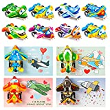 Valentines Day Cards for Kids - 28 Pack Planes Valentine's Greeting Cards with Pull Back Planes Toy Party Favors, Kids Valentines Day Exchange Gift Cards for Boys Girl Classroom School Party Supplies