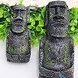 Changlesu 2pcs Ancienne Île de Pâques Statue de tête Portrait pour...