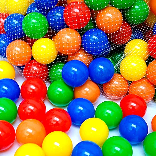 EevOveE 50 pcs Medium Size No Sharp Edges Premium Quality Balls Color Balls for Kids / Pool Balls Genuine Quality Set of 50 Balls - 6 cm Diameter(Medium Size)