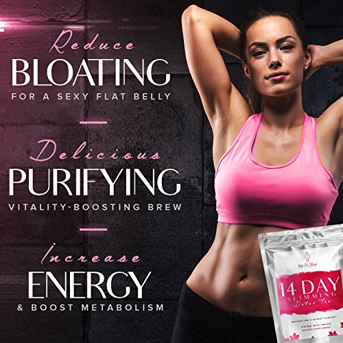 Raspberry Ketone Force and Her Fit Shape 14 Day Detox Tea Bundle - Natural Weight Loss Supplement and Tea Cleanse to Lose Weight - Improve Energy - Reduce Belly Fat and Bloating (2 Items) 3