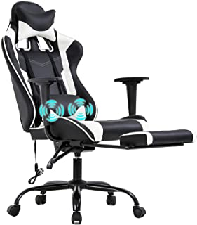 PC Gaming Chair Racing Office Chair Ergonomic Desk Chair Massage PU Leather Recliner..