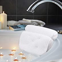 AmazeFan Bath Pillow, Bathtub Spa Pillow with 4D Air Mesh Technology and 7 Suction Cups,..