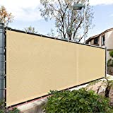 Royal Shade 6' x 50' Beige Fence Privacy Screen Cover Windscreen, with Heavy Duty Brass Grommets, Custom Make Size