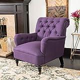 Christopher Knight Home Randle Arm Chair, Dark Purple