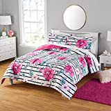 Your Zone Floral Print Comforter and Sham Set, Twin/Twin XL
